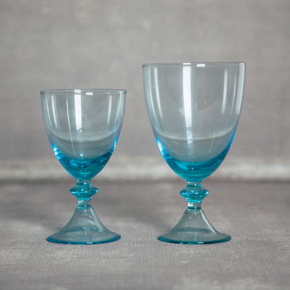 Glacee Glassware Turquoise Aqua Blue Relish Decor