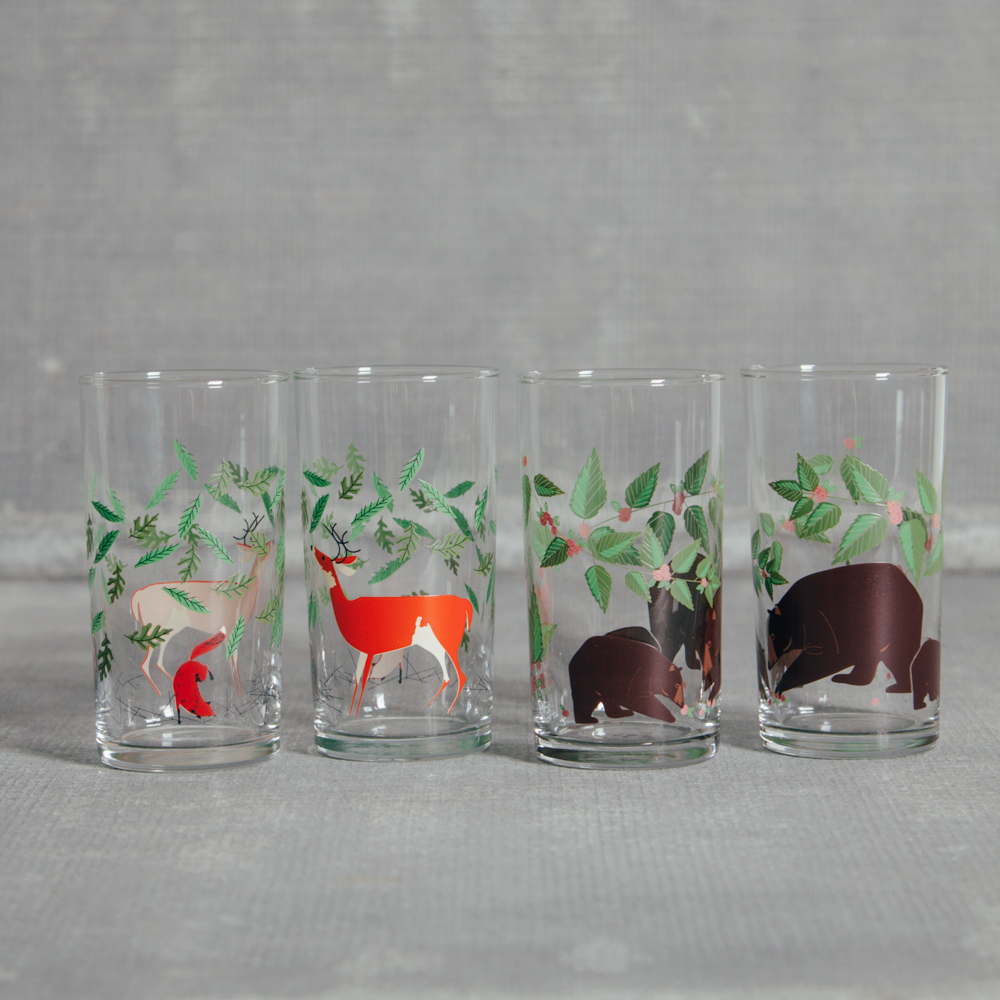 Oldham + Harper Great Outdoors Glasses Set Fishs Eddy Relish Decor