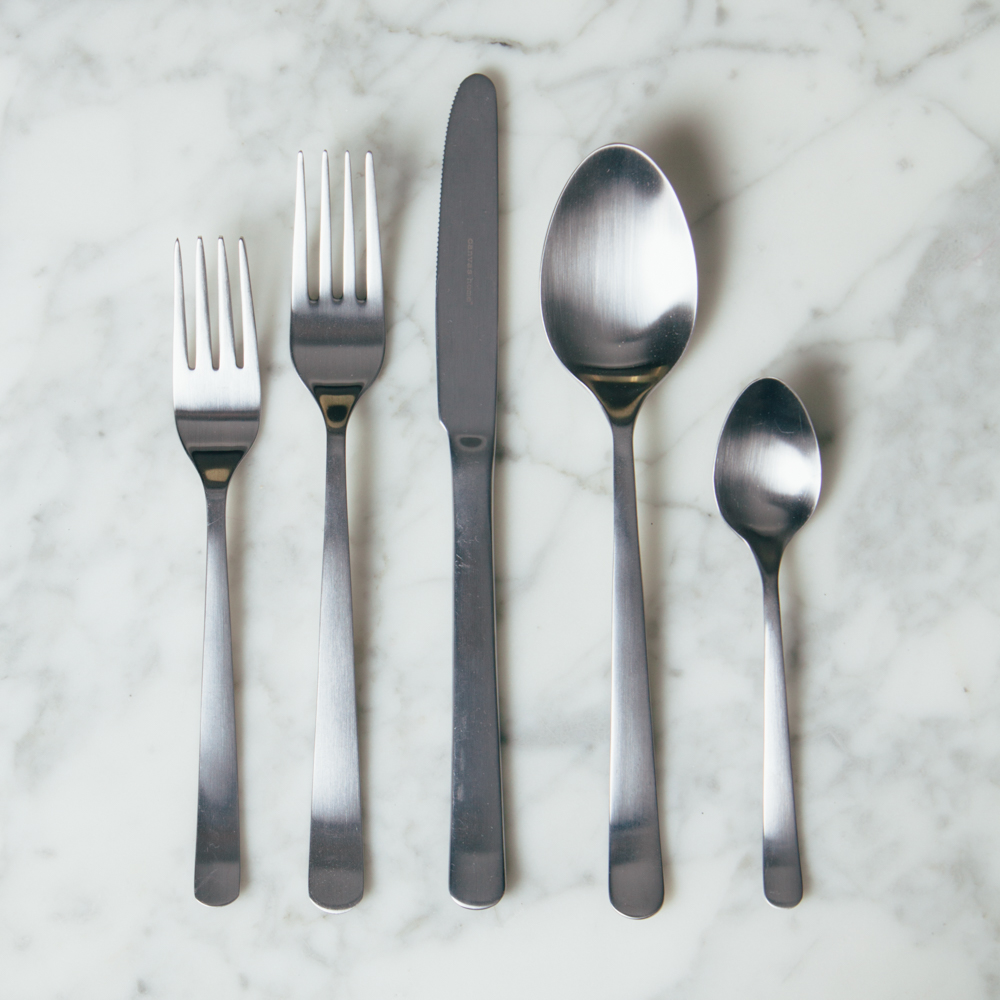 Oslo Brushed Stainless Steel Flatware Collection Relish Decor