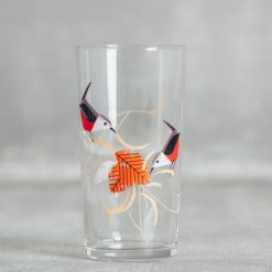 Relish Decor Fishs Eddy Todd Oldham Charley harper red birds juice glass wrenovat