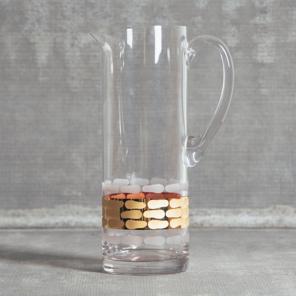 Truro Gold Service Pitcher Michael Wainwright Crystal Relish Decor