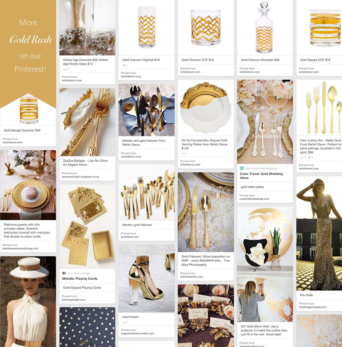 gold rush relish decor