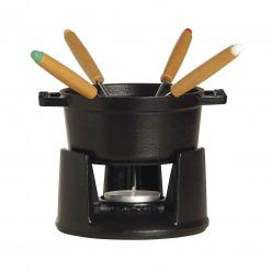 cyber-week-staub-cast-iron-mini-chocolate-fondue-set-matte-black-relish-decor