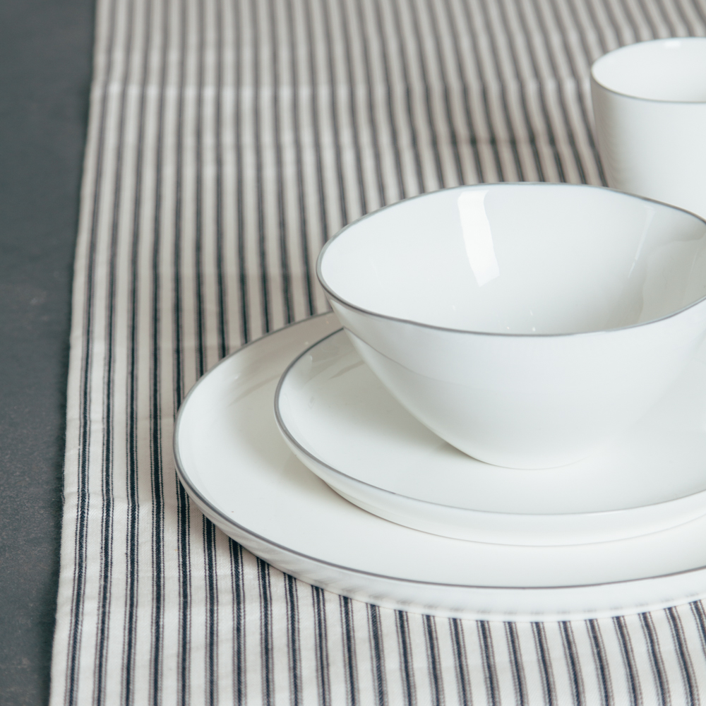 Abbesses Grey Canvas Home Dinnerware Relish Decor