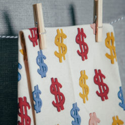 Amy Sedaris Money Dollar Sign Tea Towel Fishs Eddy Relish Decor