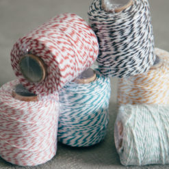 Bakers Twine Rolls Red Pink Black Mint Aqua Blue Orange Relish Decor