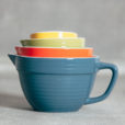 Batter Bowl Measuring Cup Sets Bright Blue Relish Decor