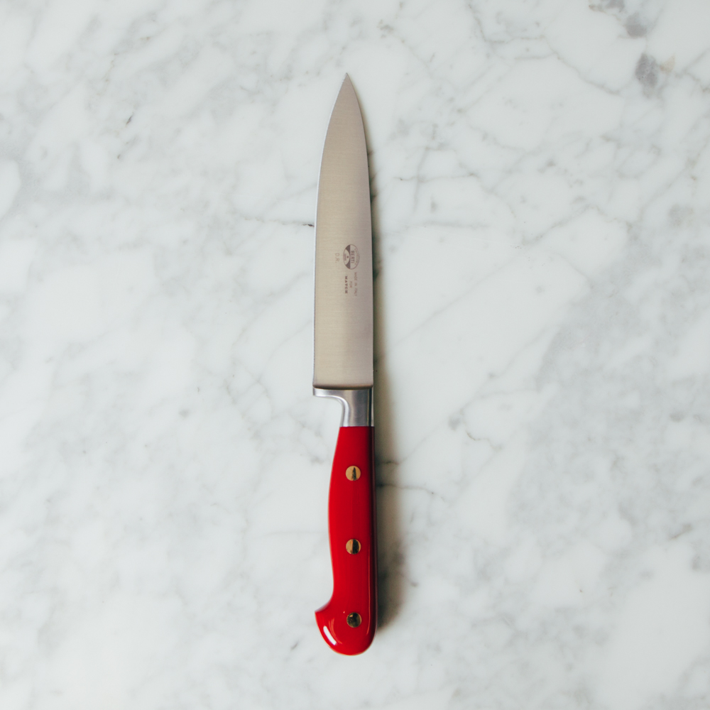 Berti Knives Red Lucite Insieme Chef Knife Collection with Magnetic Blocks Relish Decor