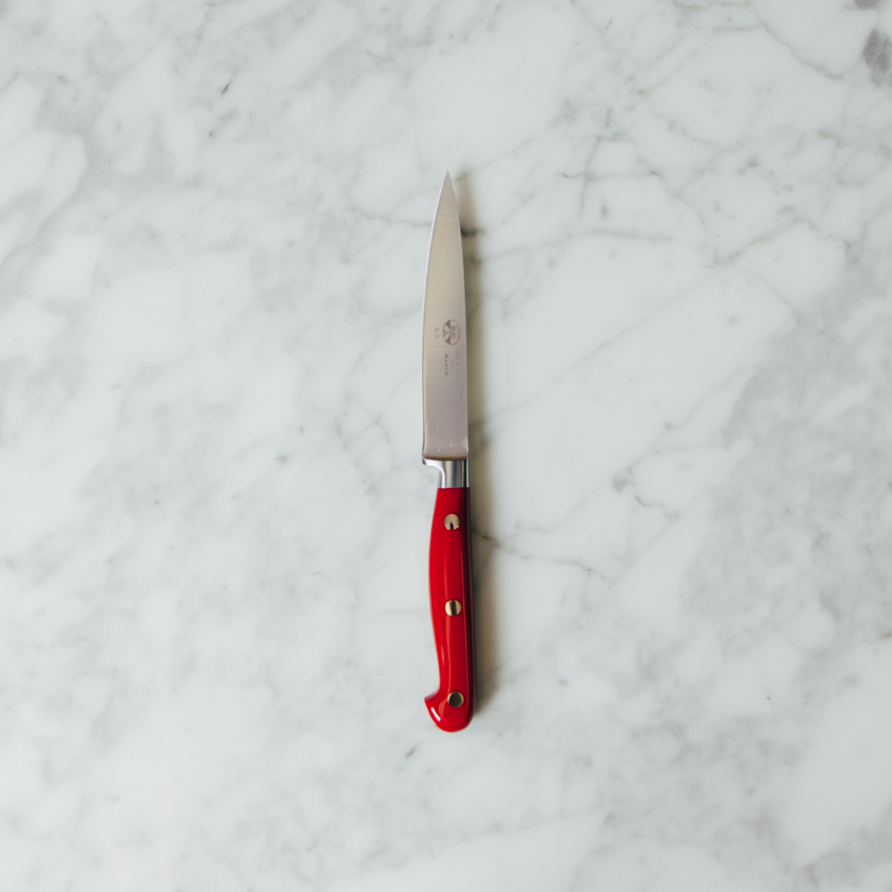 Berti Knives Red Lucite Insieme Paring Knife Collection with Magnetic Blocks Relish Decor