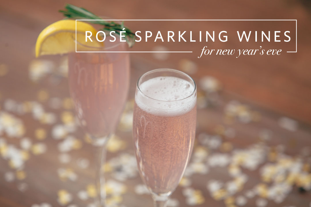 rose sparkling pink wine new years eve relsih decor best champagne bubbles