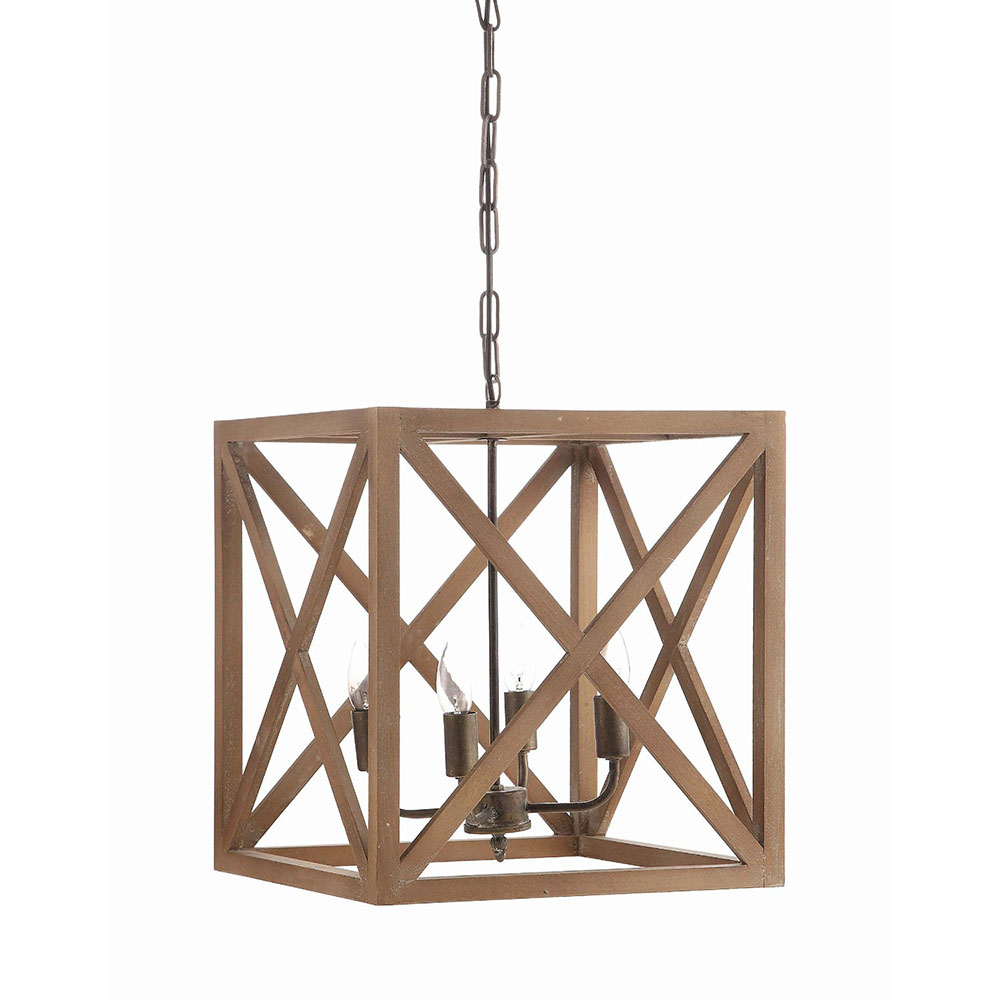 Box Wood Chandelier Relish Decor