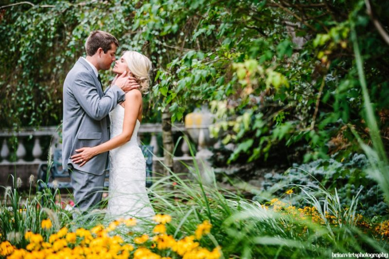 Brian Virts Wedding photography relish decor blog summer wedding kiss