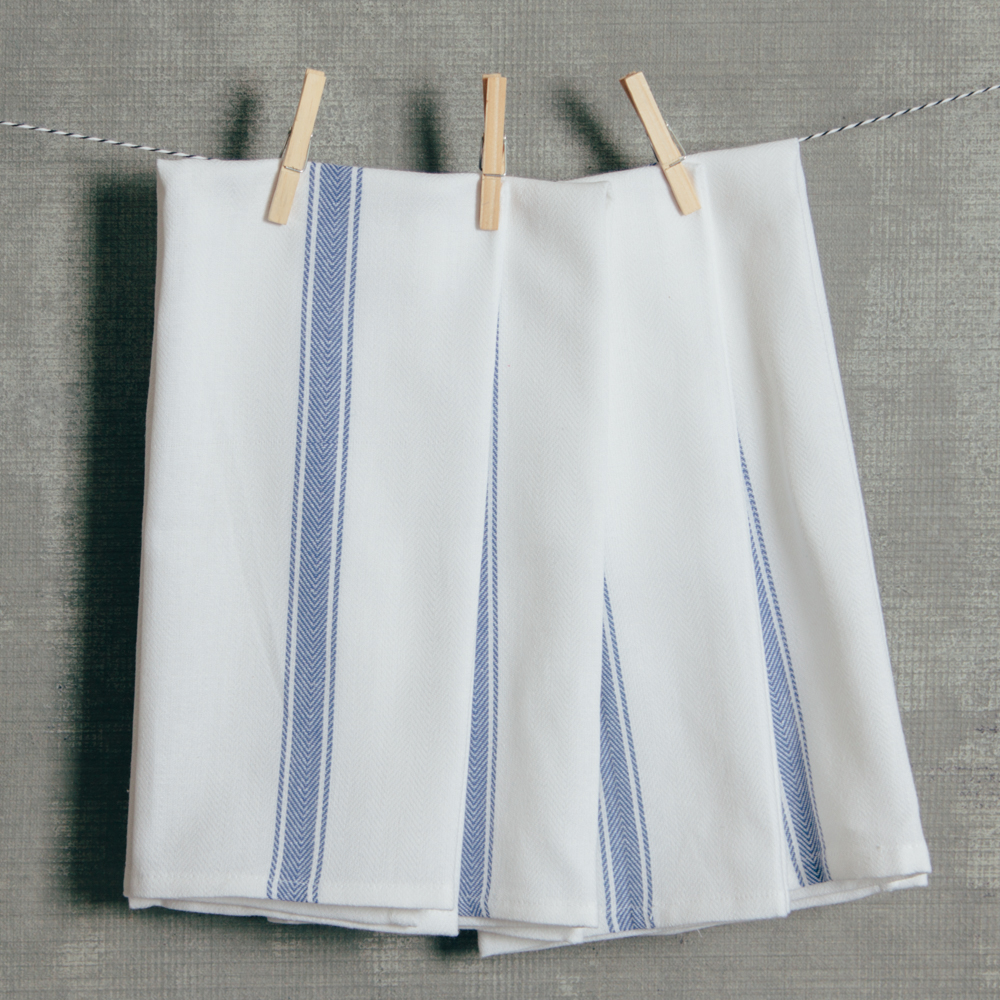 Brooklyn Stripe Serviette Set Blue Relish Decor