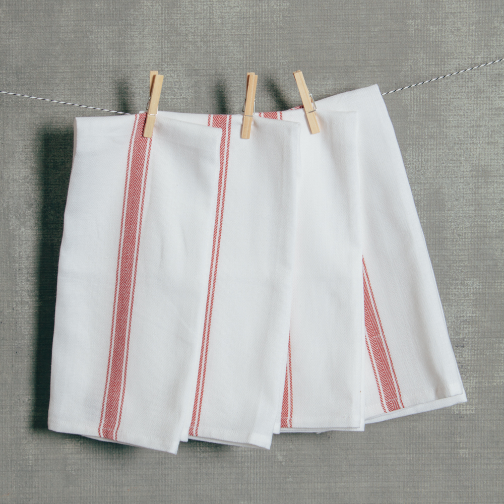 Brooklyn Stripe Serviette Set Red Relish Decor