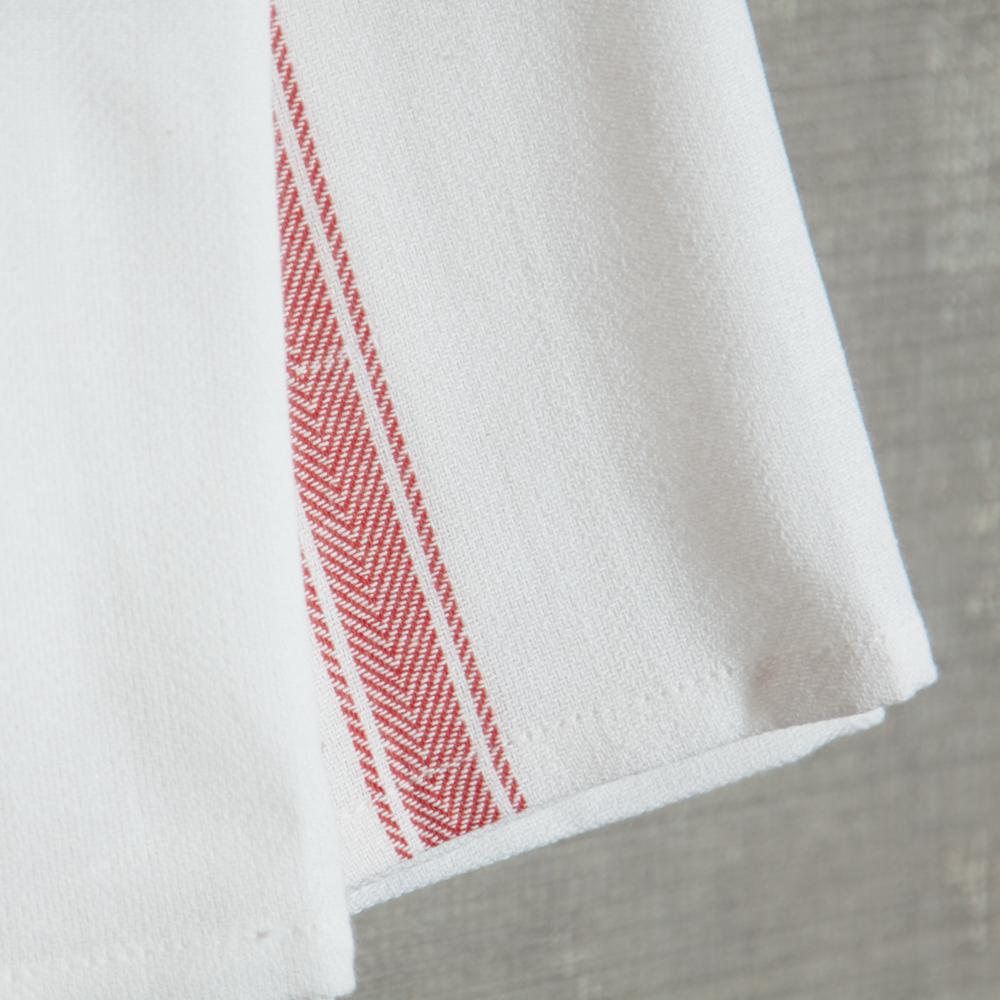 Brooklyn Stripe Serviette Set Red Stripe Relish Decor