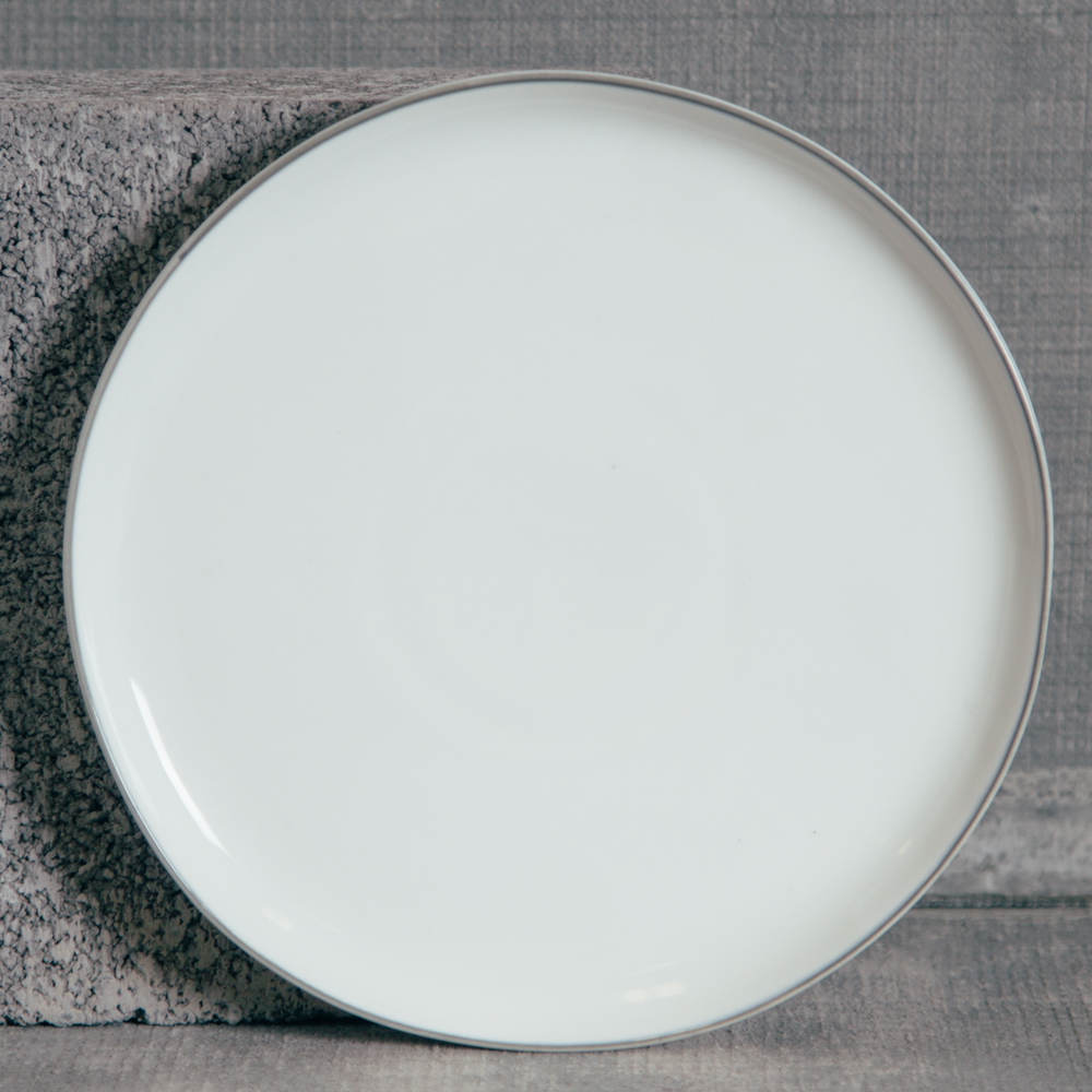 Canvas Home Abbesses Grey Salad Plate Relish Decor