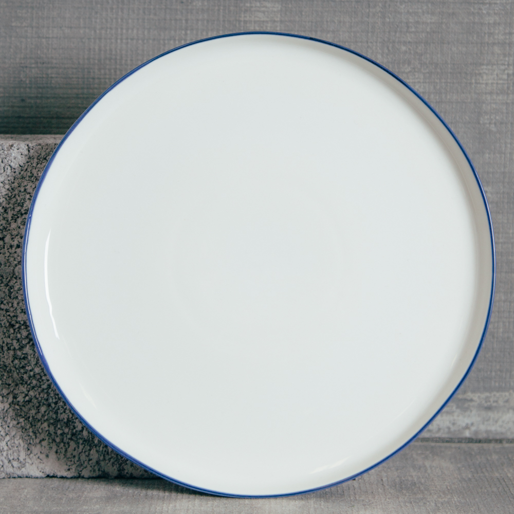 Canvas Home Abbesses Navy Blue Dinner Plate Relish Decor