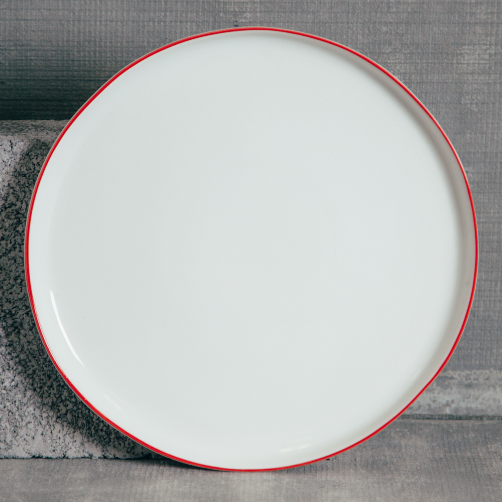 Canvas Home Abbesses Red Dinner Plate Relish Decor