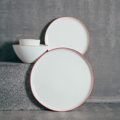 Canvas Home Abbesses Red Dinnerware Collection Relish Decor