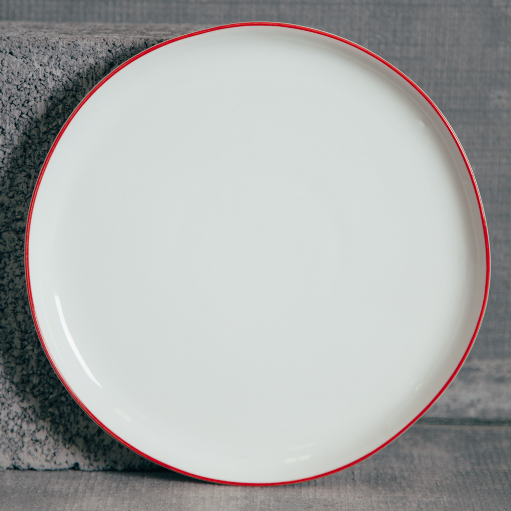 Canvas Home Abbesses Red Salad Plate Relish Decor
