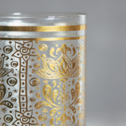 Casablanca Highball Gold Glass Collection Relish Decor