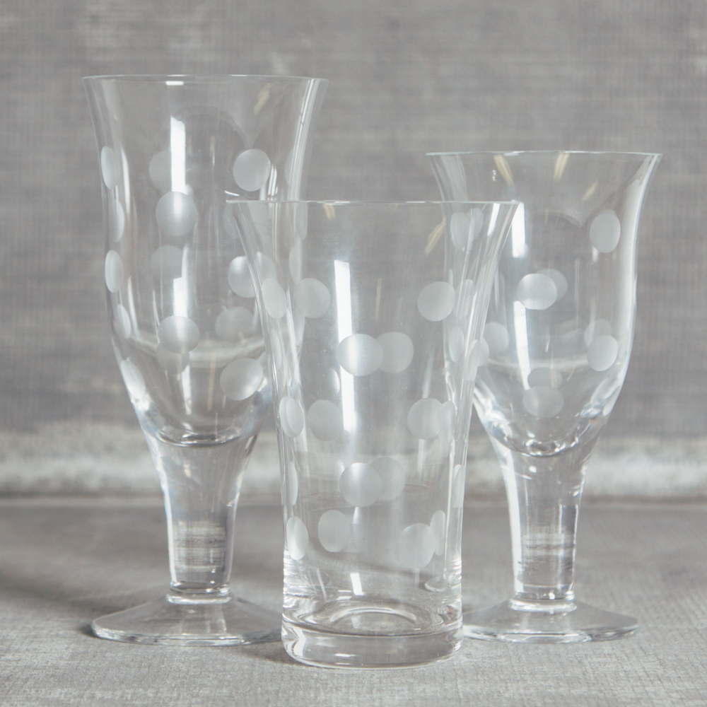 Casafina Dot Glass Glassware Collection Relish Decor Polka Dot