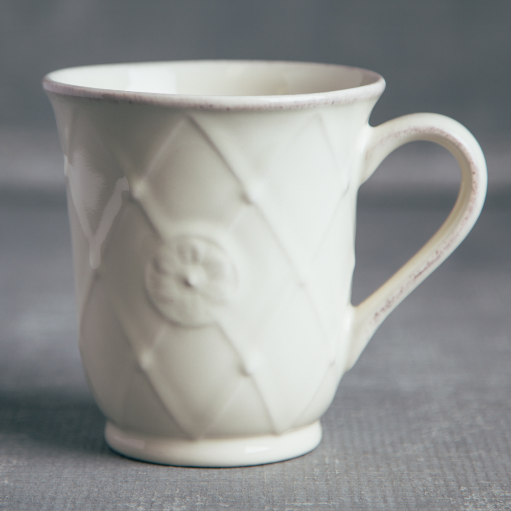 Casafina Meridian Classic Ivory Coffee Mug Relish Decor