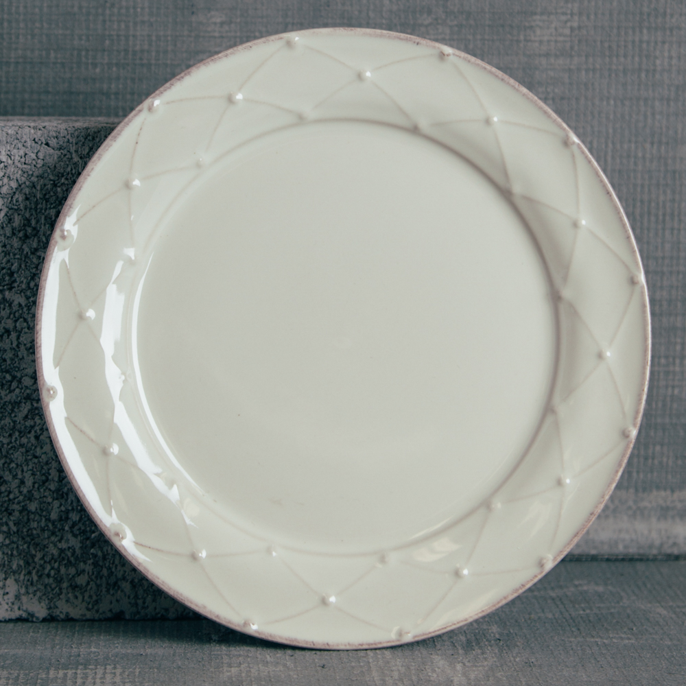 Casafina Meridian Classic Ivory Dinner Plate Relish Decor