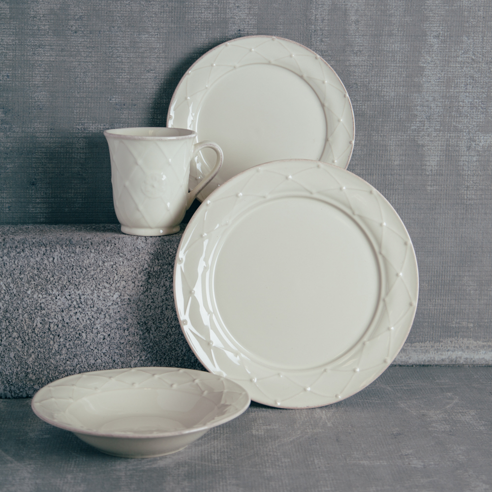 Casafina Meridian Classic Ivory Dinnerware Collection Relish Decor