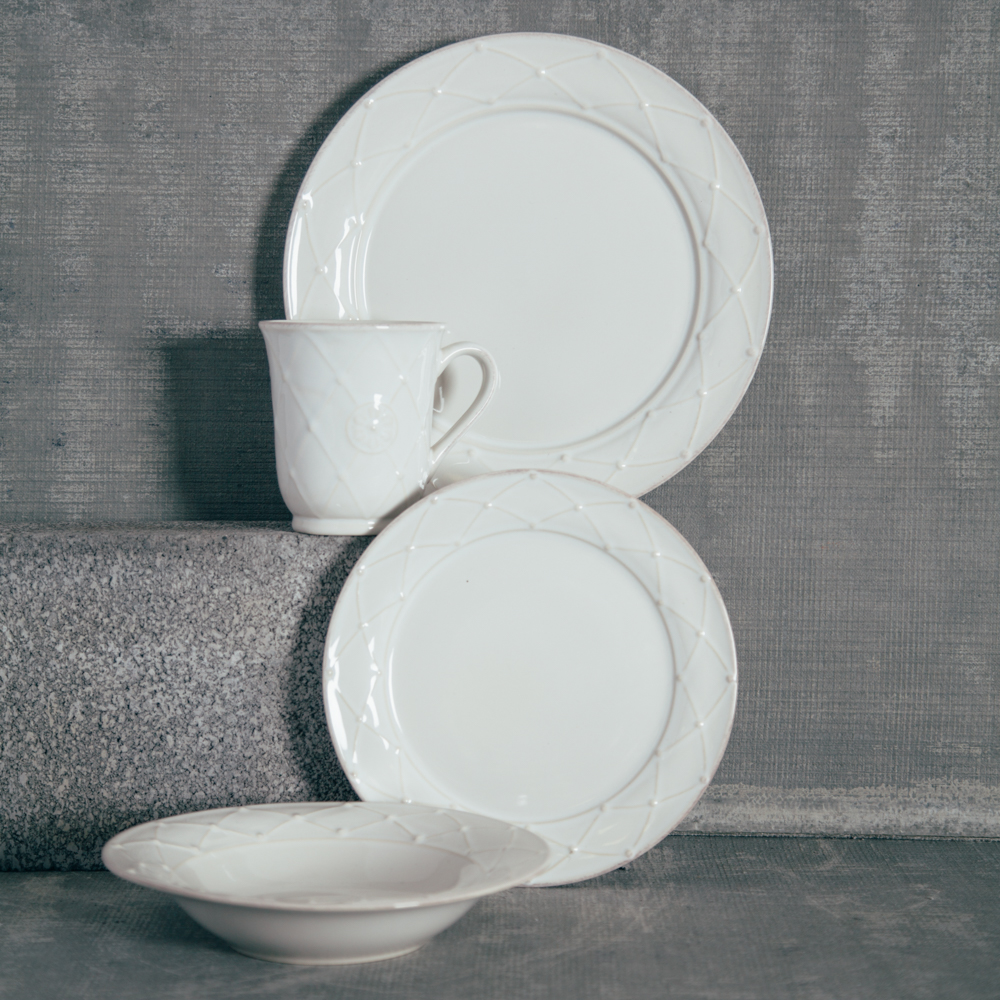 Casafina Meridian Classic White Dinnerware Collection Relish Decor