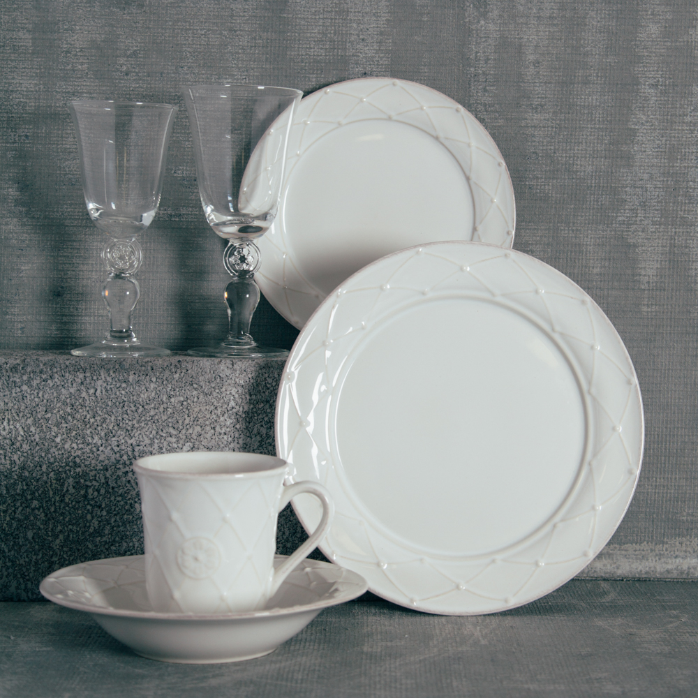 Casafina Meridian Classic White Dinnerware and Glassware Collection Relish Decor & Meridian Classic White Dinnerware Sets - Relish Decor