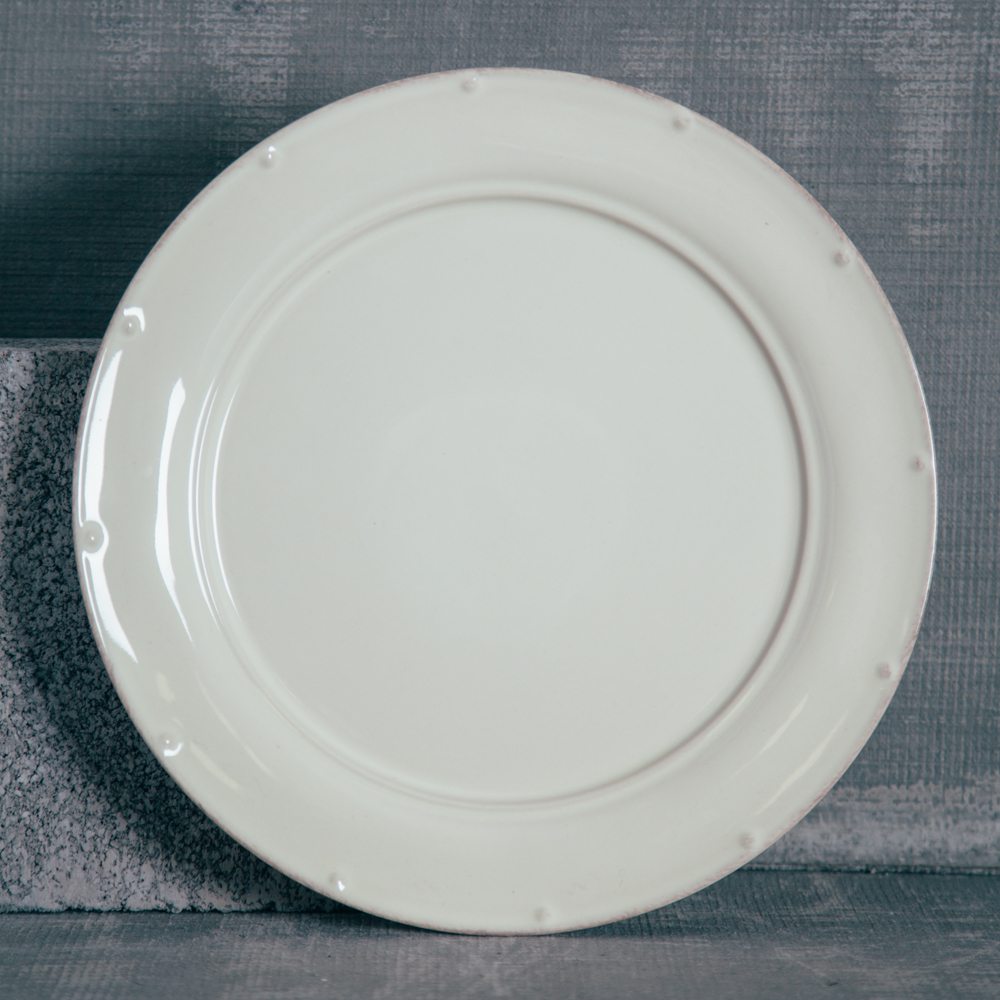 Casafina Meridian Cream Dinner Plate Plain Relish Decor