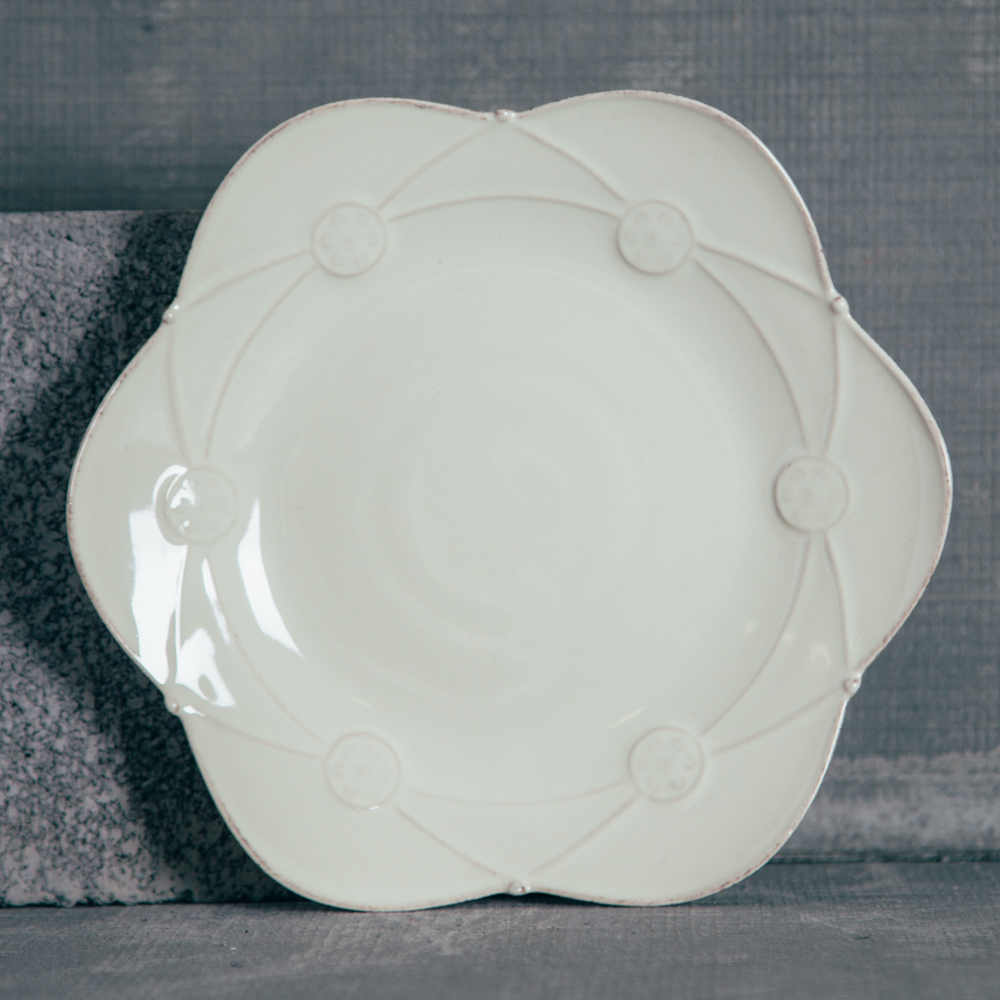Casafina Meridian Cream Salad Plate Decorated Relish Decor