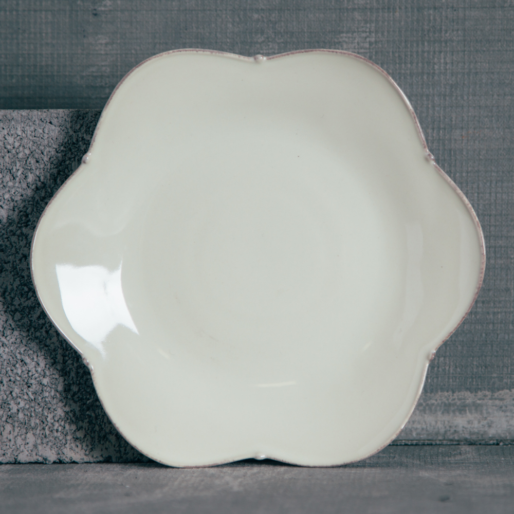 Casafina Meridian Cream Salad Plate Plain Relish Decor