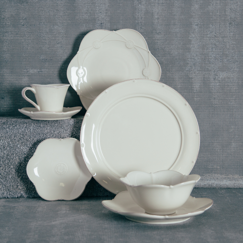 Casafina Meridian Cream Scalloped Dinnerware Collection Relish Decor
