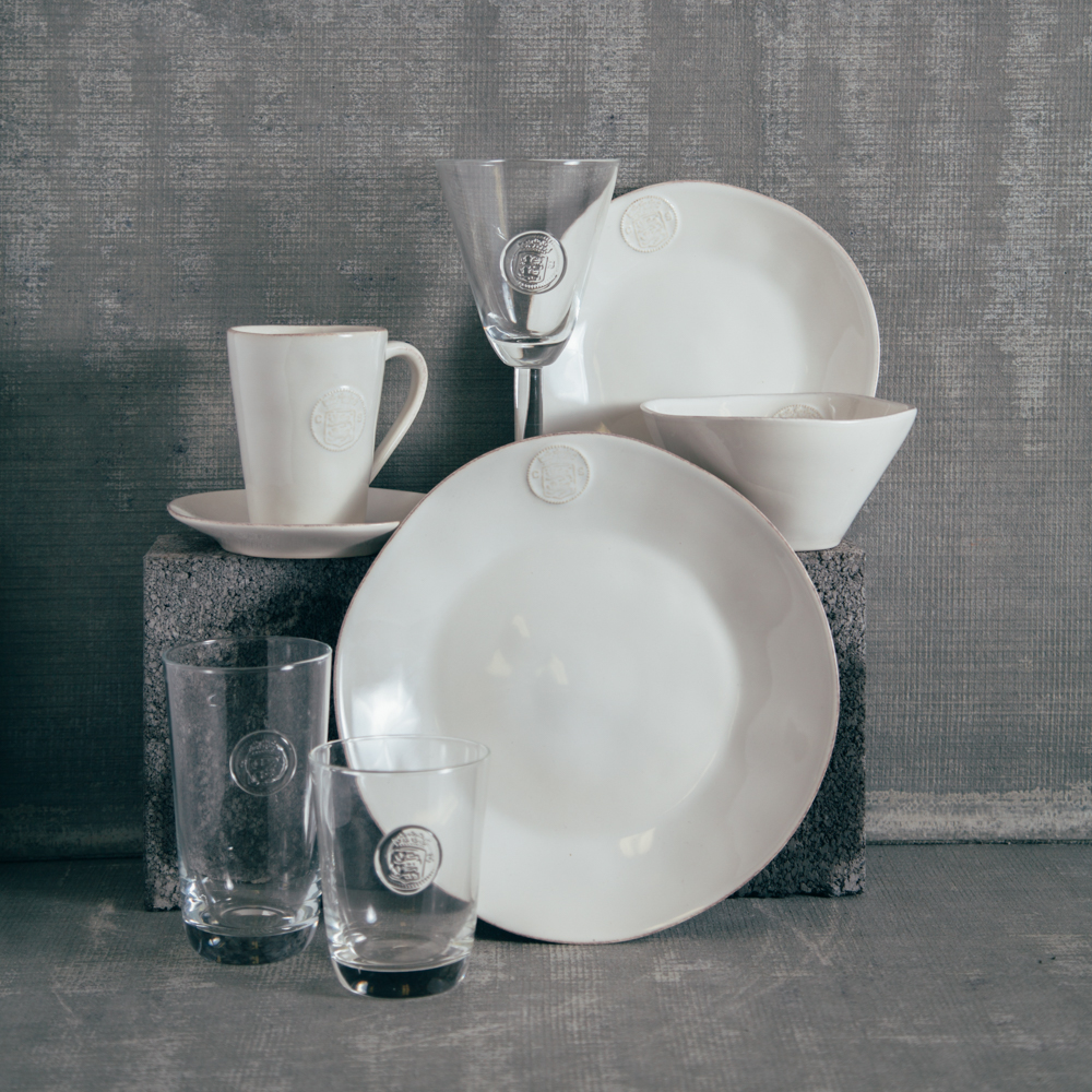 Casafina White Forum Dinnerware Glassware Collection