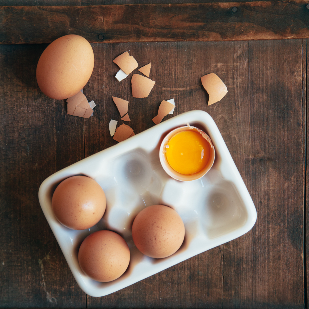 Ceramic Half Dozen Egg Crate Relish Decor