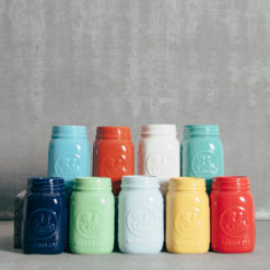 Ceramic Mason Drinking Jars Relish Decor
