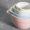 Ceramic Stoneware Measuring Cup Batter Bowl Style Sets Pastel Colors Relish Decor