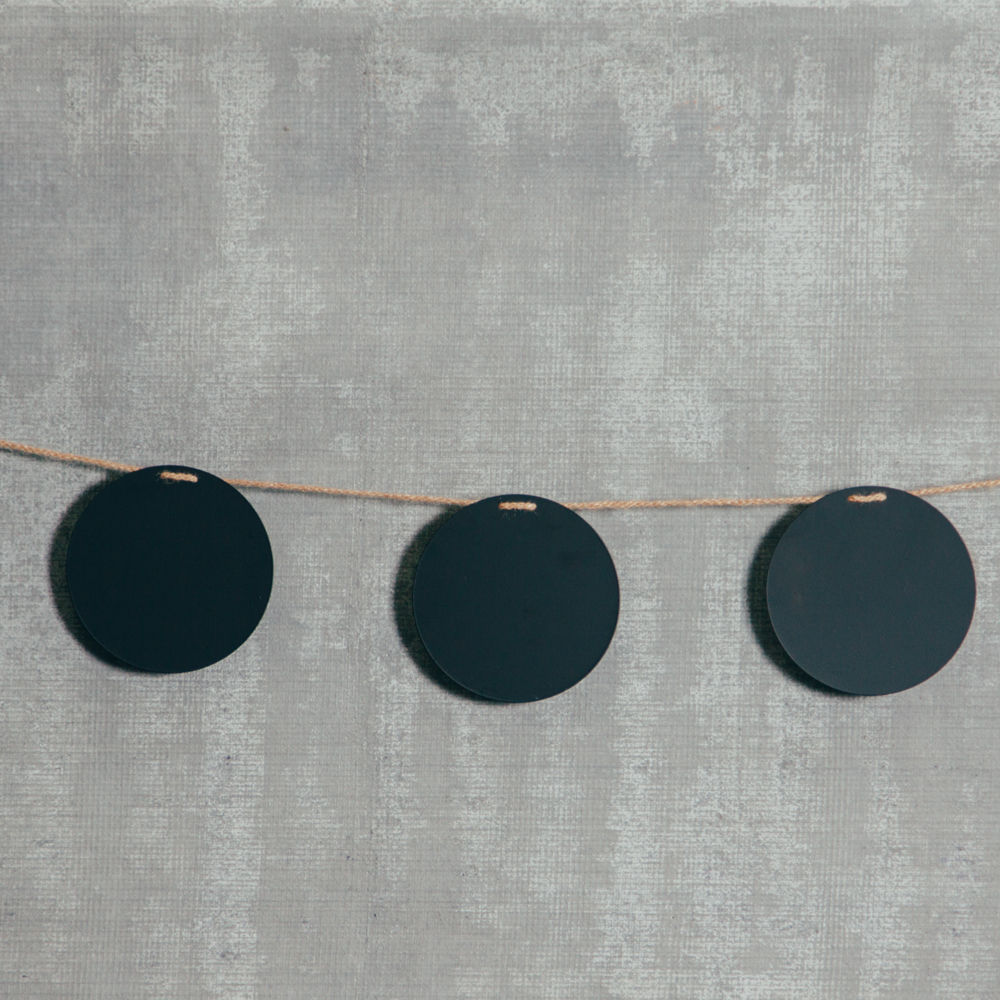 Chalkboard Garland Circles Relish Decor