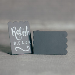 Chalkboard Placecard Holder Scallop Relish Decor
