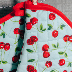 Cherries Pot Holder and Oven Mitt Set of 2 Relish Decor