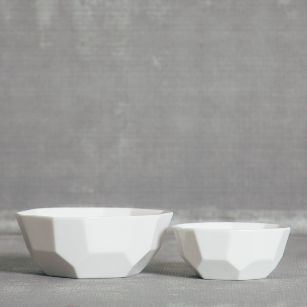 Chez Elle White Geometric Bowl Rosanna Set Relish Decor