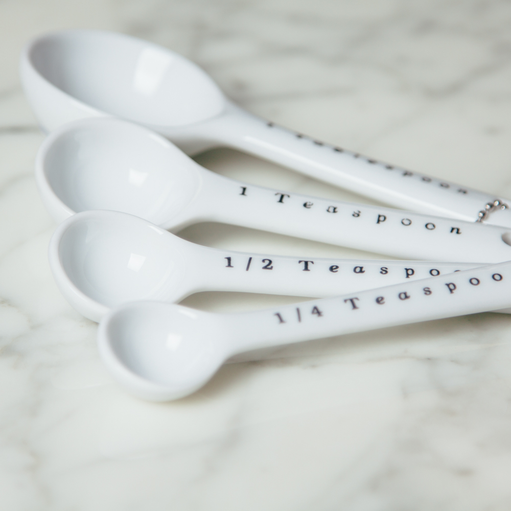 Darcy White Measuring Spoons Relish Decor