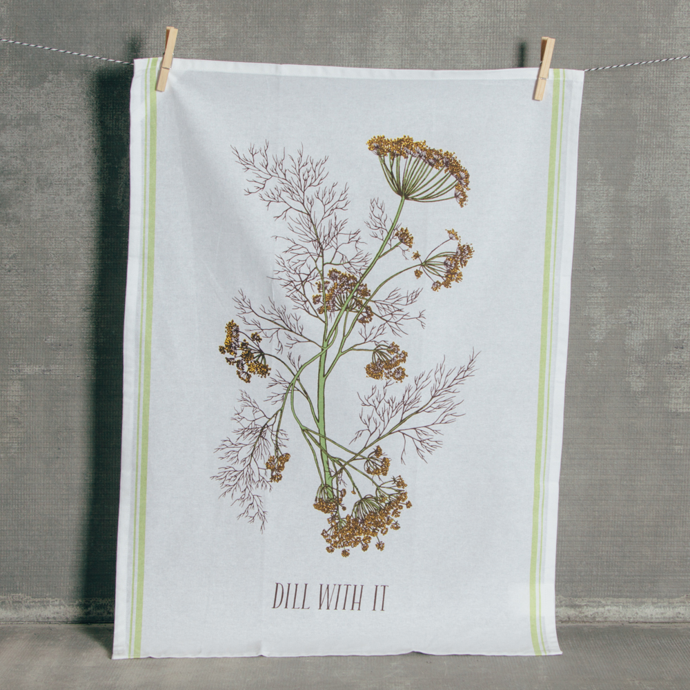 Dill with it Printed Tea Towel Relish Decor