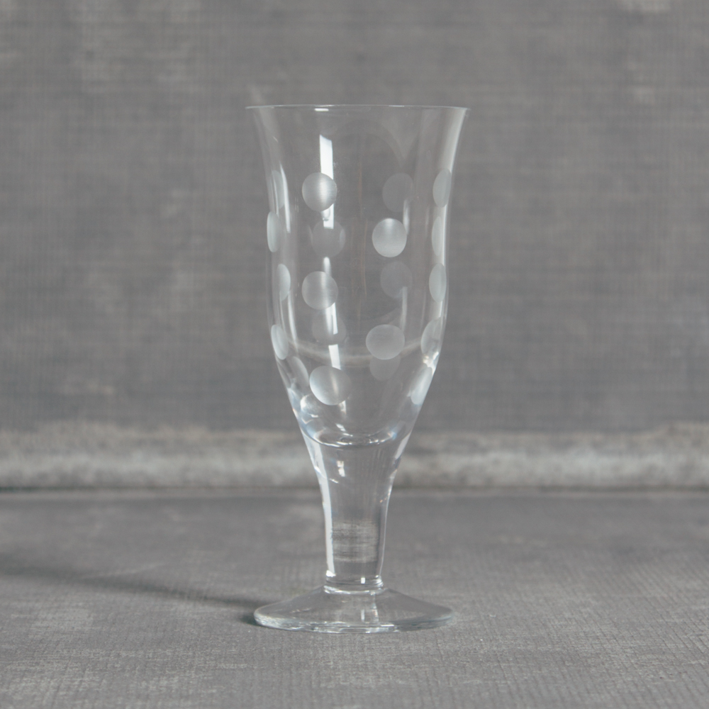 Dots Glassware Water Glass Relish Decor