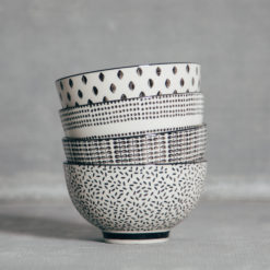 Edith Bowls Black and White Pattern Relish Decor
