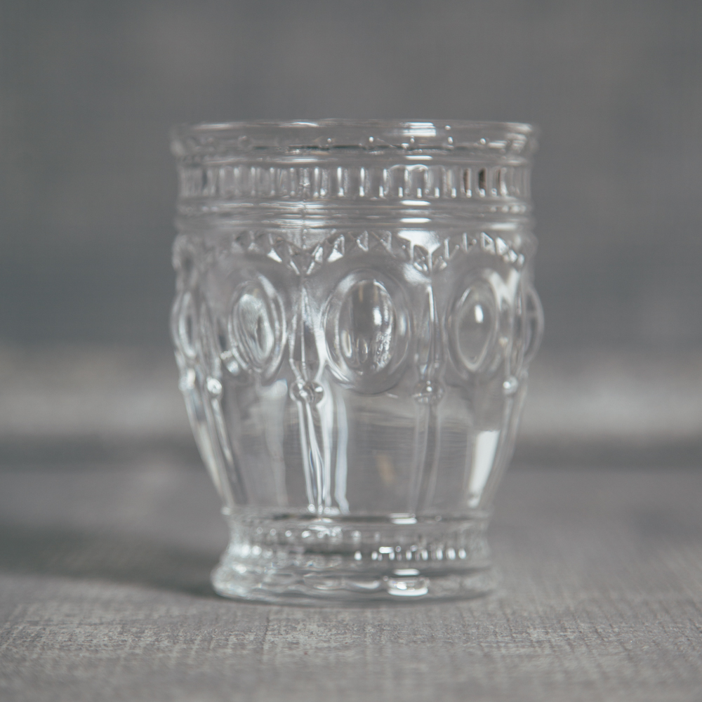 Embossed Tumbler Glass Relish Decor