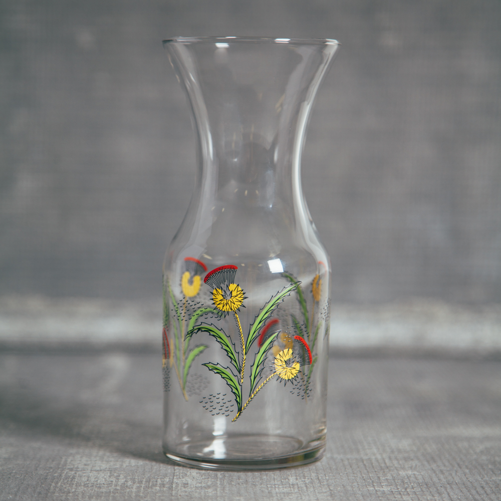 Fishs Eddy Deco Thistle Decanter Italian Glassware Collection Relish Decor