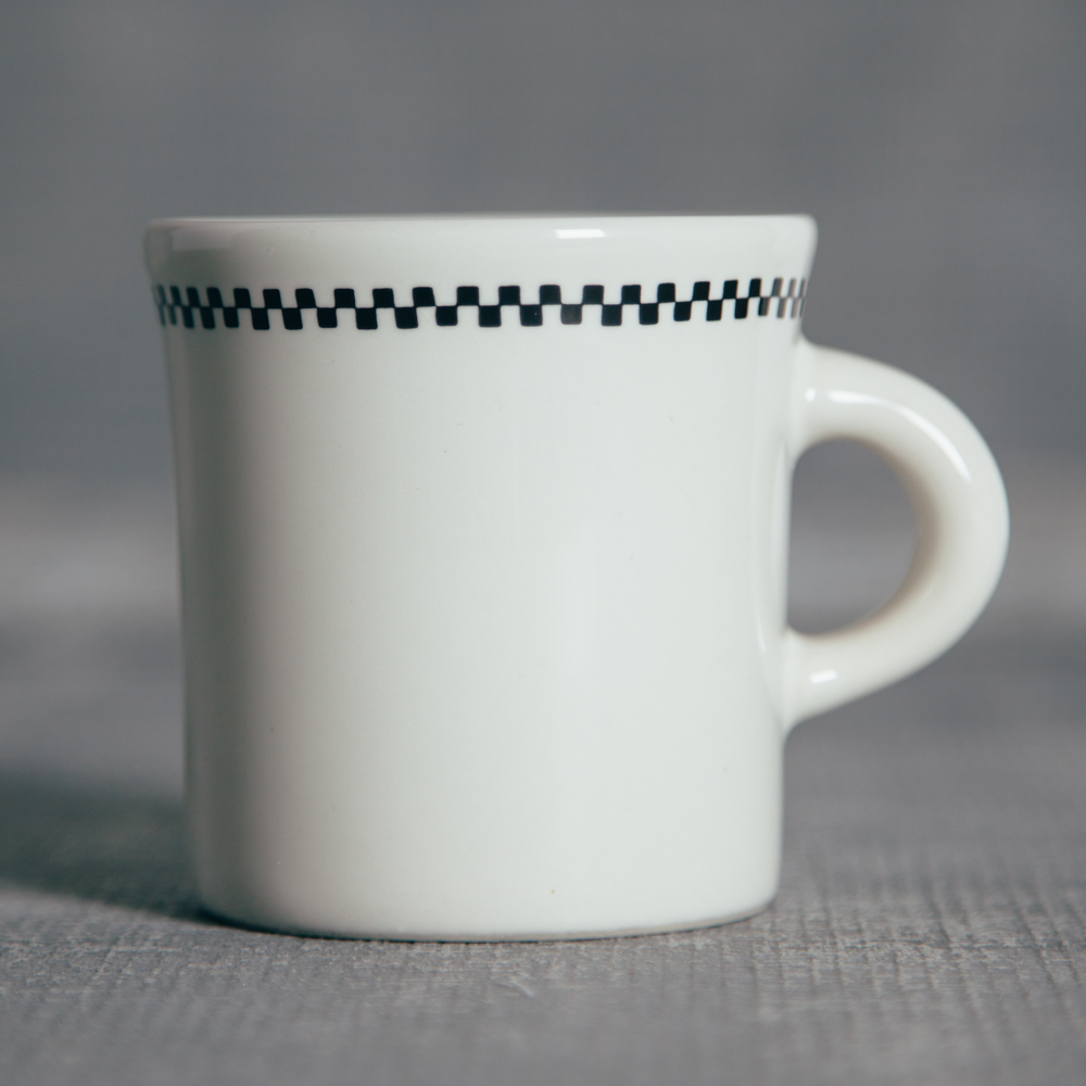 Fishs Eddy Diner Whites Checkerboard Coffee Mug Relish Decor : checkerboard dinnerware - Pezcame.Com